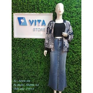 Chân váy Jean nhập khẩu Đài loan - CV011-S thumbnail