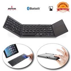 Bàn Phím Bluetooth + bàn di chuột xịn sò cho Laptop tablet điện thoại - Gấp gọn AB033