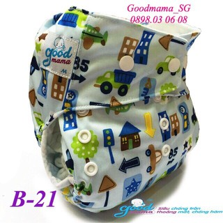 1 bô bỉm vải Goodmama siêu chống tràn lót xơ tre gồm 1 vỏ và 1 lót - mẫu 21 thumbnail