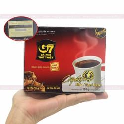 Cà Phê G7 Đen Không Đường hộp 15 gói - Cafe Hoà Tan Đen Trung Nguyên