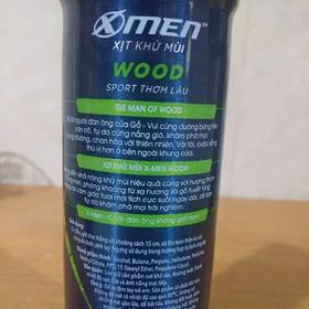 Xịt toàn thân X men Wood 150ml hương thơm bền lâu Hàng Chính Hãng - Li-X-Wood-1-4