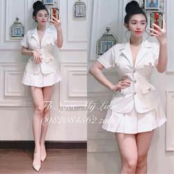 Bộ áo vest ngắn tay chân váy