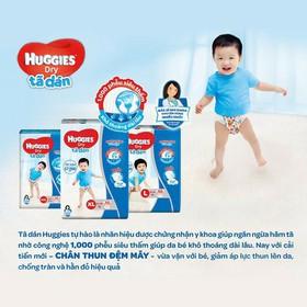 Tã dán/ Bỉm dán Huggies size L - Tã dán/ Bỉm dán Huggies cải tiến mới với các