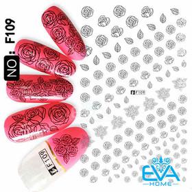 Miếng Dán Móng Tay 3D Nail Sticker Tráng Trí Hoạ Tiết Bông Hoa F109 - 0010002376