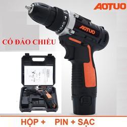 Bộ Máy khoan sửa chữa vặn vít Aotuo 12V có đảo chiều - Máy khoan pin, khoan pin cầm tay