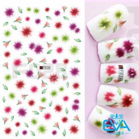 Miếng Dán Móng Tay 3D Nail Sticker Tráng Trí Hoạ Tiết Bông Hoa F028 - 0010002375