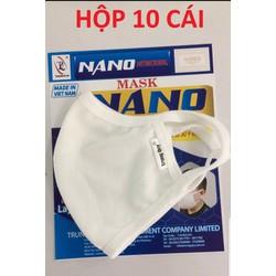 combo 10 cái khẩu trang vải kháng khuẩn Nano