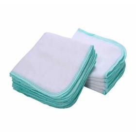 khăn sữa sơ sinh 3 lớp siêu thấm siêu mềm 100% cotton - gói 10 chiếc