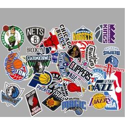 Sticker ĐỘI BÓNG RỔ nhựa PVC không thấm nước, dán nón bảo hiểm, laptop, điện thoại, Vali, xe, Cực COOL #58