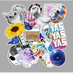 Sticker CHỦ ĐỀ DU LỊCH nhựa PVC không thấm nước, dán nón bảo hiểm, laptop, điện thoại, Vali, xe, Cực COOL #60