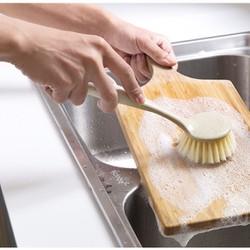 Bàn chải tròn có tay cầm cọ rửa nhà bếp
