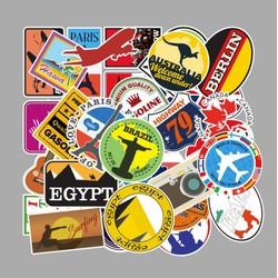 Sticker CHỦ ĐỀ DU LỊCH nhựa PVC không thấm nước, dán nón bảo hiểm, laptop, điện thoại, Vali, xe, Cực COOL #55