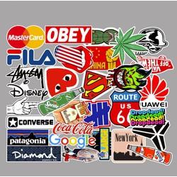 Sticker LOGO THƯƠNG HIỆU nhựa PVC không thấm nước, dán nón bảo hiểm, laptop, điện thoại, Vali, xe, Cực COOL #53
