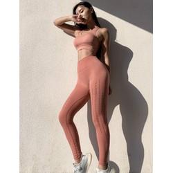 Đồ Tập Gym Nữ, Quần Dài Tập Yoga Nâng Mông Vải Dệt Kim Cao Cấp