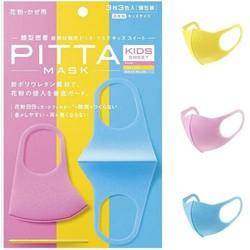 Túi 3 chiếc khẩu trang trẻ em nữ PITTA MASK KIDS nhật bản (hàng xách tay)