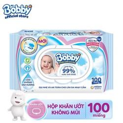 Khăn ướt Bobby Nano Bạc kháng khuẩn không mùi 100 chăm sóc làn da nhạy cảm của bé