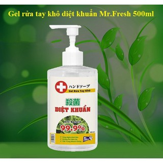 Nước rửa tay khô diệt khuẩn Mr. Fresh 500ml - dạng gel, sạch khuẩn, an toàn với 70% cồn - BH7190 thumbnail