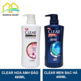 Bộ Dầu gội Clear Men 450ml và Clear Hoa Anh Đào 480ml Thái Lan - CLEAR HOA ANH ĐÀO + MEN