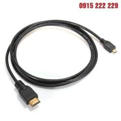 Dây micro HDMI to HDMI 1.5m Dùng kết nối máy ảnh, điện thoại, máy tính bảng... có chuẩn Micro HDMI với màn hình Tivi có cổng HDMI