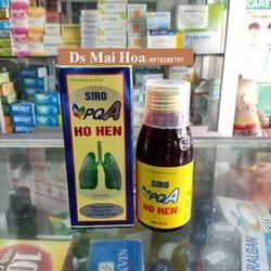 Siro PQA Ho Hen - TPCN Trị hen suyễn, Hen Phế Quản, Viêm Phế Quản, Ho, Viêm Họng