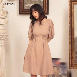 Đầm xếp ly tay GUMAC DA455_NAU