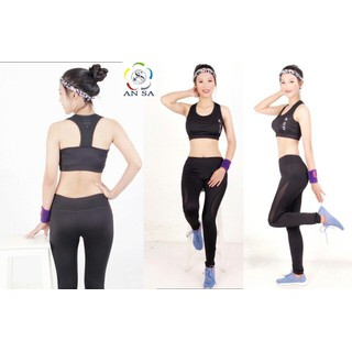 Quần legging dài thể thao nữ phối lưới cao cấp -QD03 - QD03 thumbnail