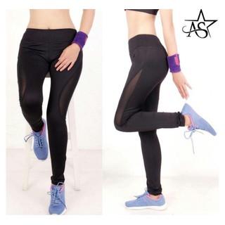 Quần legging dài thể thao nữ phối lưới cao cấp màu đen-QD3 - QD3 thumbnail