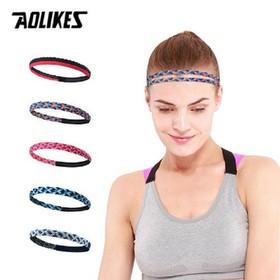 Băng đô đầu thể thao nam nữ-Băng trán thể thao - silicon chống trượt Aolikes AL2102
