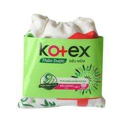 Băng vệ sinh kotex thảo dược túi 4 miếng
