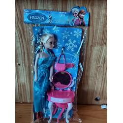 Đồ chơi búp bê công chúa Frozen kèm bàn trang điểm