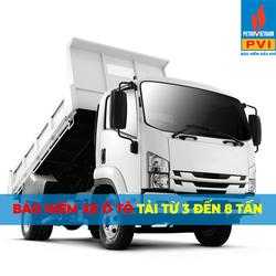 Bảo hiểm ô tô tải  3 - 8 tấn