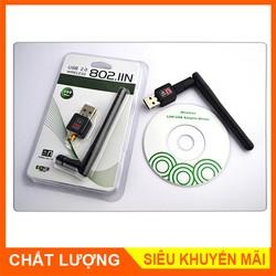 USB wireless 802.11n – Thiết Bị Thu Sóng Wifi Cho Máy Tính Để Bàn