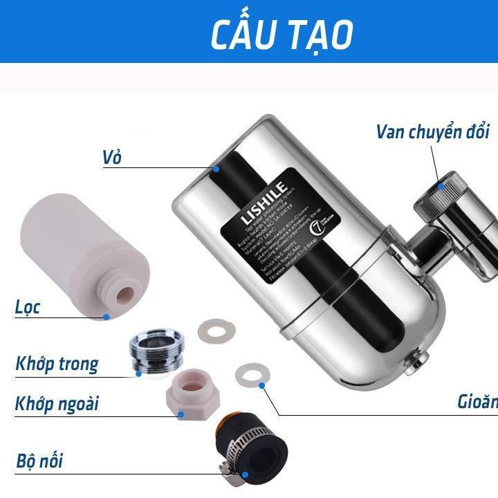 thiết bị lọc nước tại vòi, Bộ lọc nước tại vòi 7 lớp lọc Lishile cao cấp công nghệ Nhật Bản, trên bồn rửa- Máy lọc nước gia đình- Đầu lọc nước tại vòi- Đầu lọc nước mini thumbnail