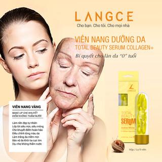 Bộ Tẩy Tế Bào Chết Da Mặt 100ml và Serum Collagen+ Viên Nang Vàng (9 Viên) LANGCE - LA565-466 7