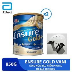Combo 2 lon sữa Ensure Gold Vani 850g tặng nón bảo hiểm Protec trị giá 450,000đ