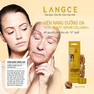Bộ Tẩy Tế Bào Chết Da Mặt 100ml và Serum Collagen+ Viên Nang Vàng 24K (9 Viên) LANGCE - LA565-060 7