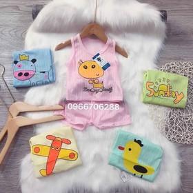 QUẦN ÁO TRẺ EM Combo 5 bộ cotton giấy cho bé trai và bé gái 3-15kg - quần áo trẻ em - combo 5b giấy