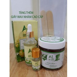 Combo Wax lông & Mỡ Trăn An Lành - kèm que và giấy wax nhám cao cấp. Hỗ trợ triệt lông an toàn tại nhà