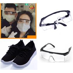 [Miễn 100% Phí Vận Chuyển] Giày Sneaker nam nữ đế nhẹ + Tặng Kính Bảo Hộ Chống Vi khuẩn nam nữ mang được