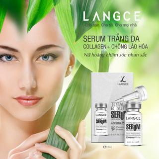 Bộ Tẩy Tế Bào Chết Da Mặt 100ml và Serum Nhau Thai Cừu Trắng Da Ngừa Lão Hoá 12ml LANGCE - LA565-046 6