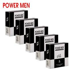 Bao cao su Powermen Invi 0.03 Combo 5 Hộp 3 BCS