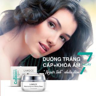 Bộ Tẩy Tế Bào Chết Da Mặt 100ml và Collagen Dưỡng Trắng Beauty Sleep Cấp Khóa Ẩm 30ml LANGCE - LA565-657 7