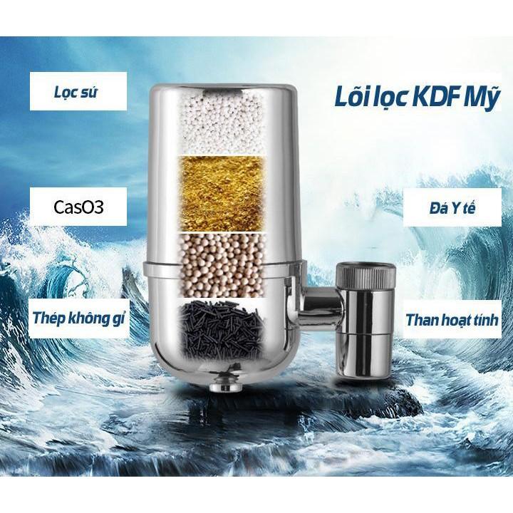 Bộ lọc nước tại vòi 7 lớp lọc Lishile cao cấp công nghệ Nhật Bản, thiết bị lọc nước tại vòi, trên bồn rửa- Máy lọc nước gia đình- Đầu lọc nước tại vòi- Đầu lọc nước mini thumbnail