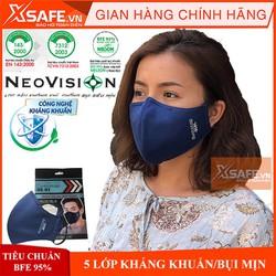 Khẩu trang Neomask Duststop màng lọc 5 lớp kháng khuẩn chống bụi mịn (giặt được) Tiêu chuẩn Nelson Hoa Kỳ