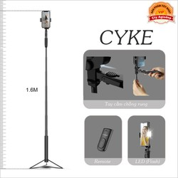 Gậy tự sướng Ánh sáng LED siêu Dài kiêm Gimble chống rung quay Video hàng hiệu - Livestream chuyên nghiệp CYKE CA21