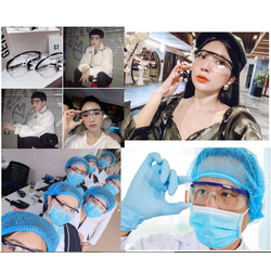 [Miễn 100% Phí Vận Chuyển] Kính bảo hộ mắt an toàn chuyên dụng y tế kỹ thuật chống bụi vi khuẩn, chống dịch bệnh cao cấp