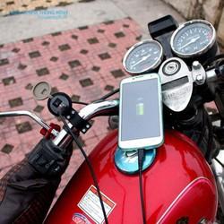 (TẶNG QUE CHỌC SIM)Sạc điện thoại trên xe máy-sạc dự phòng-cục sạc - sac xe may