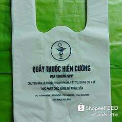 In túi 2 quai theo yêu cầu cho cửa hàng tạp hóa, hiệu thuốc