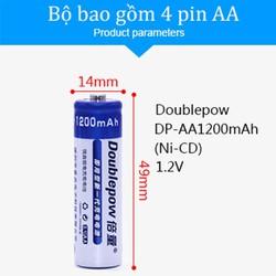 Pin sạc aa - Pin sạc aa chính hãng Doublepow 1200mAh (Bộ 8 viên )
