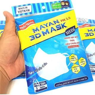 KHẨU TRANG MAYAN 3D MASK PM2.5 - 5 CÁI - MAYAN-3D thumbnail
